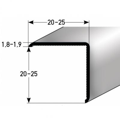 """Eckschutzwinkel """"Requena"""" 20 x 20 mm oder 25 x 25 mm aus Aluminium, selbstklebend oder ungebohrt"""