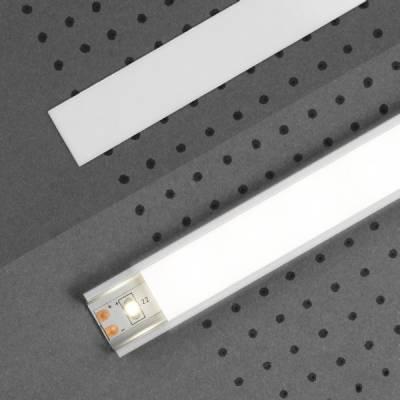 """Abdeckung """"E"""" für LED-Aluminiumprofile"""