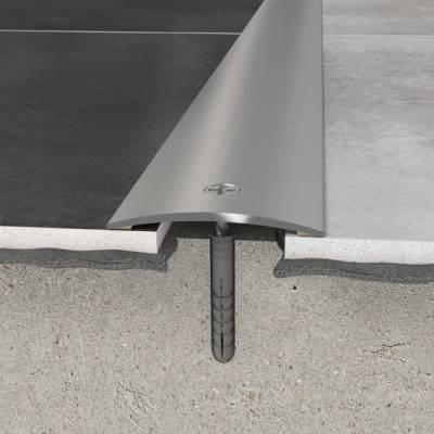 Übergangsprofil 30 x 3,12 mm | Aluminiumprofil Silber gebohrt