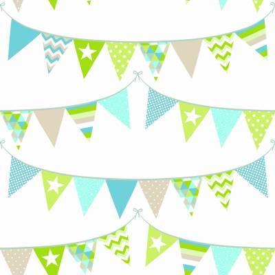 Rasch Textil Everybody Bonjour | 138719 | Vliestapete Muster & Motive | 0.53 m x 10.05 m | Bunt