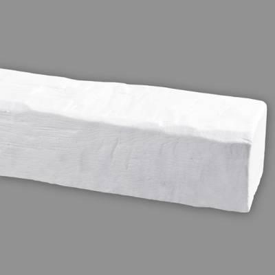 Wiesemann PU-Balken | aus hochfestem Polyurethan | 20 x 13 x 400 cm | Weiß | realistisch