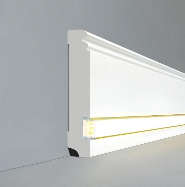 topseller led licht sockelleisten berliner profil wei ebay. Black Bedroom Furniture Sets. Home Design Ideas