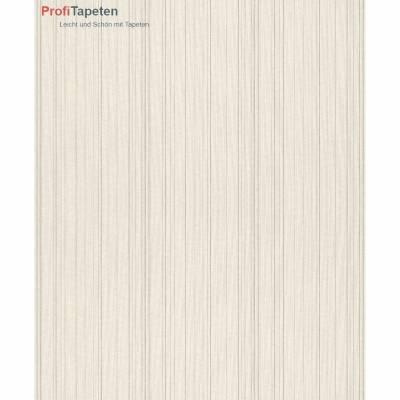 Rasch Textil Cassata | 077505 | Vliestapete Streifen | 0.53 m x 10.05 m | Creme