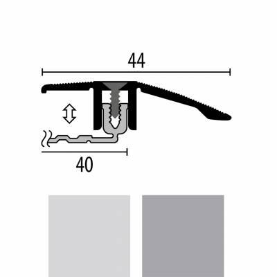 Küberit 286 SK PPS-Champion 4.0 | Übergangsprofil | Breite:44 mm | Abschlussprofil | Höhe:6.5-16 mm