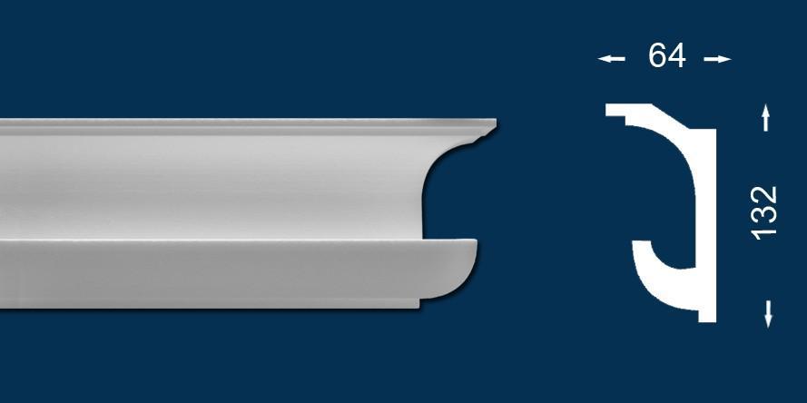 10 Meter - Lichtleiste `Wiesemann LL4` - Stuckleiste für indirekte Beleuchtung - Sparpack