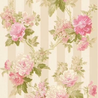 A.S. Creation Romantico | 304464 | Vliestapete Blumenoptik | 0.53 m x 10.05 m | Cremefarbend