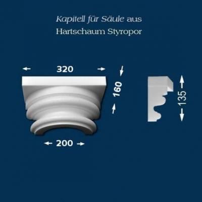 "Säulenkapitell ""Wiesemann SK8-1"" - unbeschichtet"