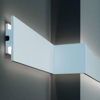 Stuckleiste | 120 mm x 40 mm | XPS | kurze Leisten | KD302 | Lichtleiste | Zierleiste