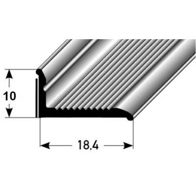 "Selbstklebende Sockelleiste 8 x 18,4 mm, für Wandabschlüsse ""Brandon"", Aluminium eloxiert"