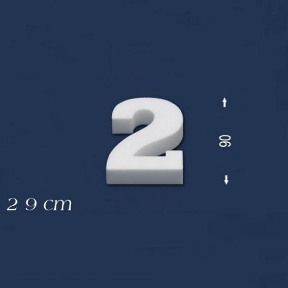 Ziffer ´´2´´ - Größe 9 cm