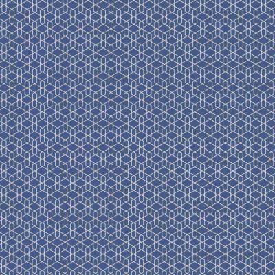 Rasch Cato | 800913 | Vliestapete 3D Optik | 0.53 m x 10.05 m | Blau