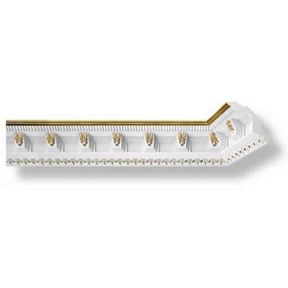 Zierleiste aus Styropor mit Goldverzierungen