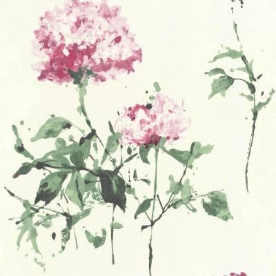 Rasch Cato | 801507 | Vliestapete Blumen | 0.53 m x 10.05 m | Rosa