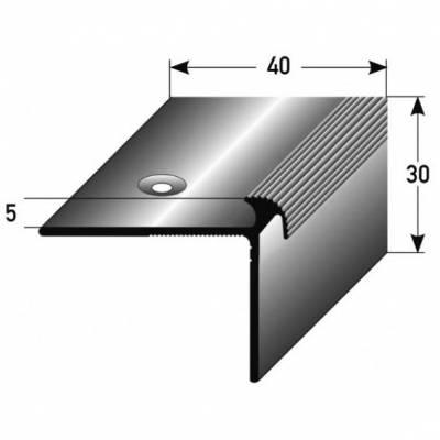 "Treppenkante ""Naro"" / Winkelprofil 40 mm x 30 mm x 5 mm Aluminium eloxiert"