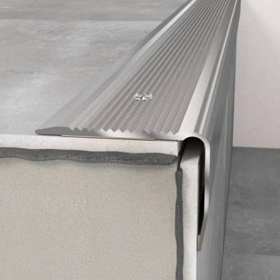 Treppenkantenprofil 40 x 30 x 1200 mm Silber | Treppenkante Aluminium