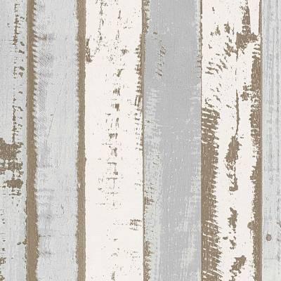 A.S. Creation Authentic Walls 2 | 302581 | Vliestapete Holzoptik | 0.53 m x 10.05 m | Grau