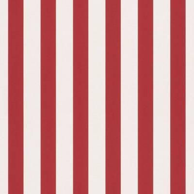 Rasch Bambino XVII | 246032 | Papiertapete Streifen | 0.53 m x 10.05 m | Rot