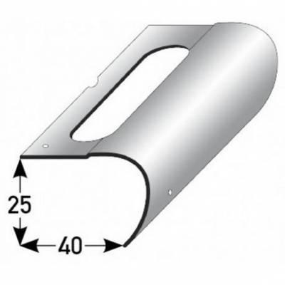 Reparaturwinkel für Treppensanierung, für Betontreppen, verzinkter Stahl, 25 mm Nase, inkl. Befestigungszubehör (Default)