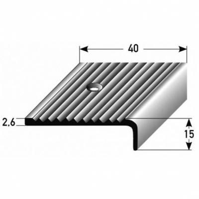 "Treppenkante ""Asti"" / Winkelprofil 40 mm x 15 mm Aluminium eloxiert"