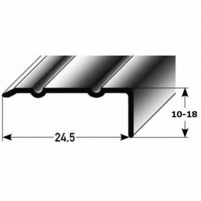 "Winkelprofil ""Salerno"" / Winkelprofil 24,5 mm Typ: 88/89 Aluminium eloxiert, selbstklebend"