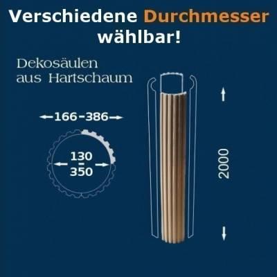 """Säulenschaft """"Wiesemann SP-kanneliert-b"""" Durchmesser: 130 - 350 mm - wetterfest beschichtet"""