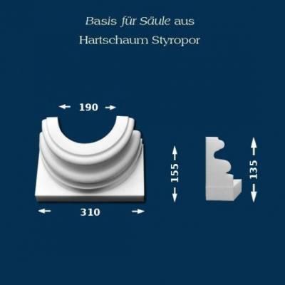"""Säulenbasis """"Wiesemann SB7"""" - unbeschichtet"""