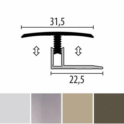 Küberit 558 Mono-Clip | Übergangsprofil | Breite:31.5 mm | Laminatausgleich | Höhe:7-12 mm