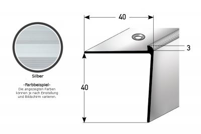 "Treppenkante ""Berrie"" / Winkelprofil, konfigurierbar, Aluminium eloxiert"