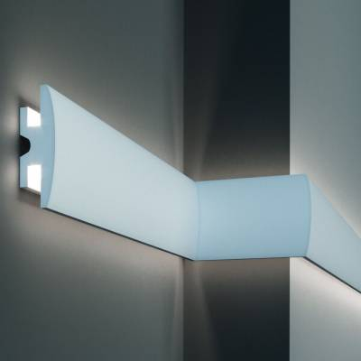 Stuckleiste | Deckenleiste | 90 mm x 50 mm | XPS | kurze Leisten | KD305 | Lichtleiste | Zierleiste