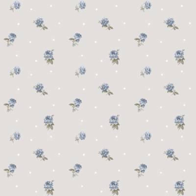 Rasch Textil Blooming Garden 9   107822   Vliestapete Blumenoptik   0.53 m x 10.05 m   Blau