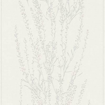 A.S. Creation Blooming | 372671 | Vliestapete Naturoptik | 0.53 m x 10.05 m | Weiß