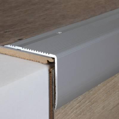 Treppenkante 55 x 69 mm, Aluminium eloxiert, gebohrt