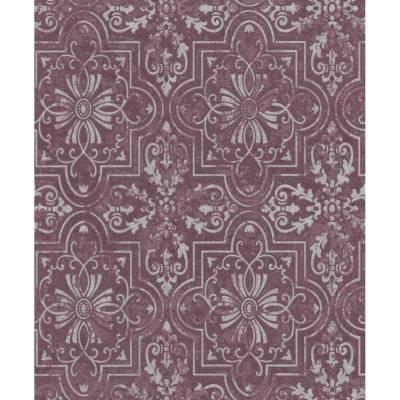 Erismann Vintage   633716   Vinyltapete Barocktapete   0.53 m x 10.05 m   Violett