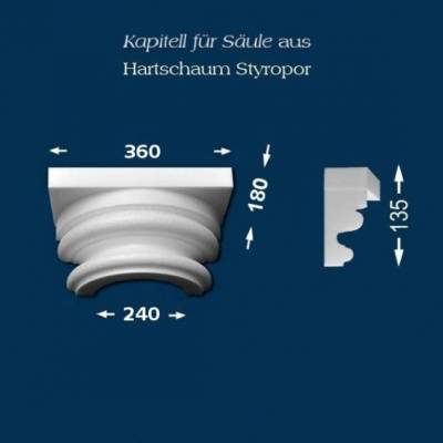 "Säulenkapitell ""Wiesemann SK12-1"" - unbeschichtet"