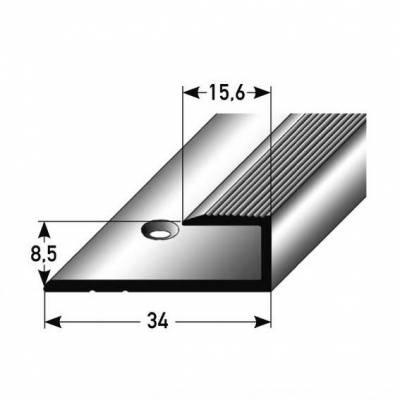 """Einfassprofil """"Barrie"""" für Laminat, 8,5 mm Einfasshöhe, Aluminium eloxiert, gebohrt"""
