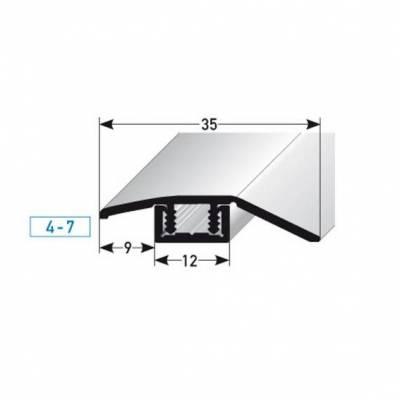 """Ausgleichsprofil / Anpassungsprofil Laminat """"Underwood"""", H 4 - 7 mm, B 35 mm, Aluminium eloxiert"""