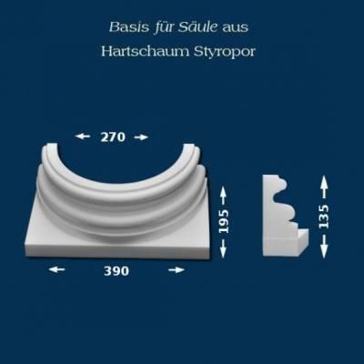 """Säulenbasis """"Wiesemann SB15"""" - unbeschichtet"""