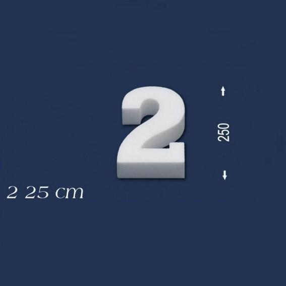 Ziffer ´´2´´ - Größe 25 cm