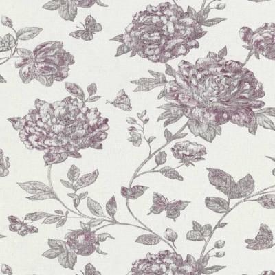 Erismann Vintage | 6335-16 | Vliestapete Blumentapete | 0.53 m x 10.05 m | Violett