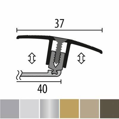 Küberit 888 PPS-Champion flex 4.0 | flexibles Ausgleichsprofil | Parkettprofil | Höhe:7-17 mm