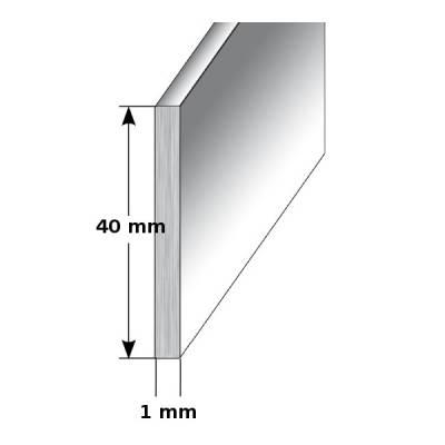 "Aluminium - Sockelleiste / Fußleiste ""TYP i 40"", Höhe: 40 mm, in verschiedenen Varianten"