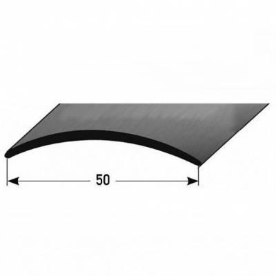 """Übergangsprofil """"Emmen"""" / Übergangsschiene / 50 mm / mittig / Typ: 155 Edelstahl, 1,5 mm Stäke"""