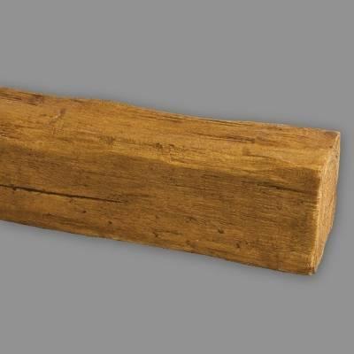 Wiesemann PU-Balken | aus hochfestem Polyurethan | 20 x 13 x 300 cm | Hellbraun | realistisch