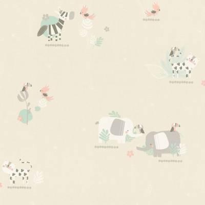 Rasch Bambino XVIII | 249736 | Papiertapete Muster & Motive | 0.53 m x 10.05 m | Beige