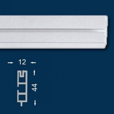 Gardinenschiene / Vorhangschiene, 12 cm, einläufig