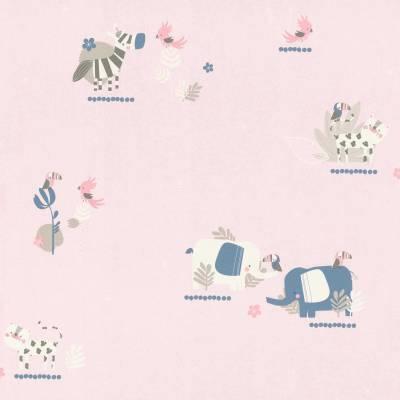 Rasch Bambino XVIII | 249743 | Papiertapete Muster & Motive | 0.53 m x 10.05 m | Rosa