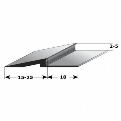 """Rampenanstoßprofil / -leiste für Böden """"Broadford"""" mit 2-8 mm Stäke, Alu eloxiert, Typ 282-284, 480"""