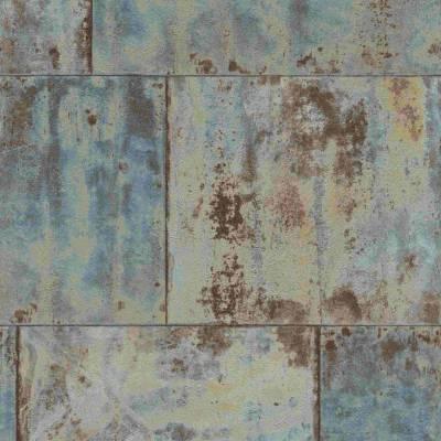 Rasch Factory III | 939712 | Vliestapete Muster & Motive | 0.53 m x 10.05 m | Blau