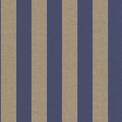 Rasch Textil Comtesse   225463   Vliestapete Streifen   0.53 m x 10.05 m   Blau