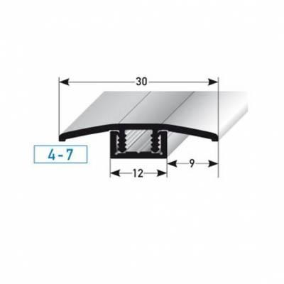 "Übergangsprofil / Übergangsschiene Laminat ""Pikeville"", H 4 - 7 mm, B 30 mm, Aluminium eloxiert"